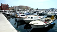 Boats moored in Rovinj video