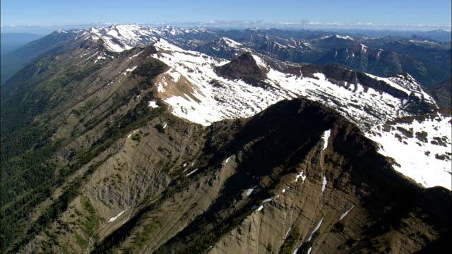 Bob Marshall Wilderness  - Aerial View - Montana, Missoula County, United States video