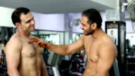 Body Builder in the Gym video