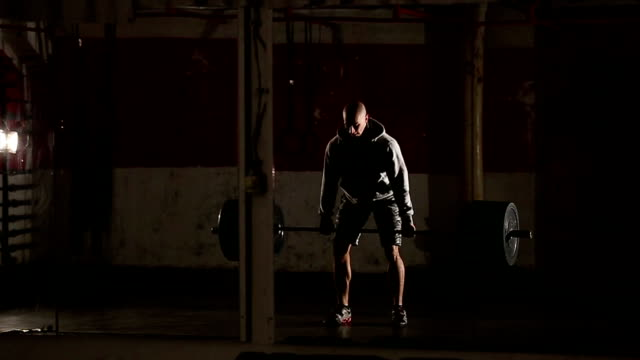 Body builder Man at the gym video