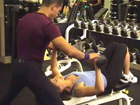 Body Sculpting and Weight Training - Bench Press video