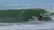 Bodyboarder almost escapes video