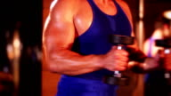Bodybuilder Exercising video