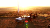 Boho Friends toasting at sunset with beer video