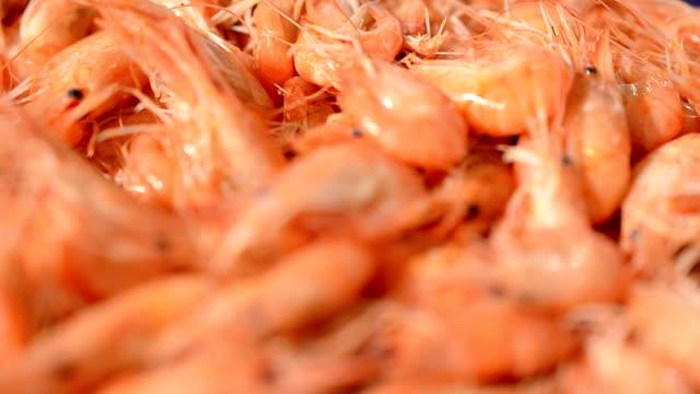 Boiled shrimp video