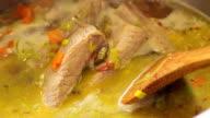 Boiling goulash video