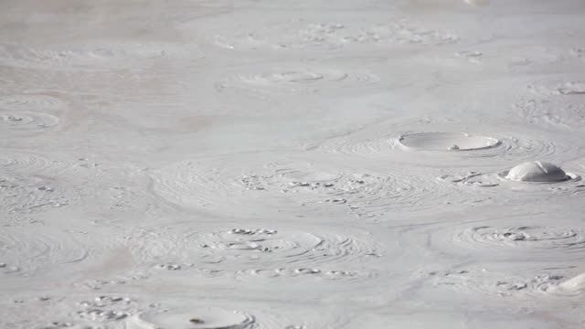 HD boiling mud pot in Yellowstone video