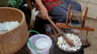 Boiling Silkworm Cocoons. video