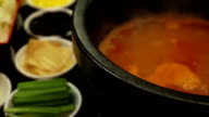 boiling spicy soup made traditional chinese food video