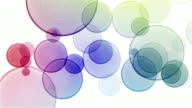 Bokeh Background Loop - Rainbow on White (HD 1080) video
