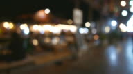 Bokeh blur time lapse video