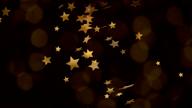 Bokeh Glitter Background with movinng light and stars video
