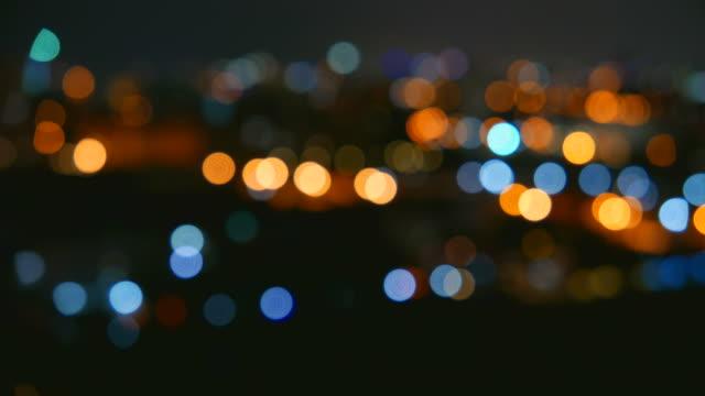 HD Bokeh light blur city video