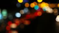 Bokeh Light of Traffic video