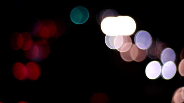 Bokeh of circle shape at Yamate ave. wide shot time lapse video
