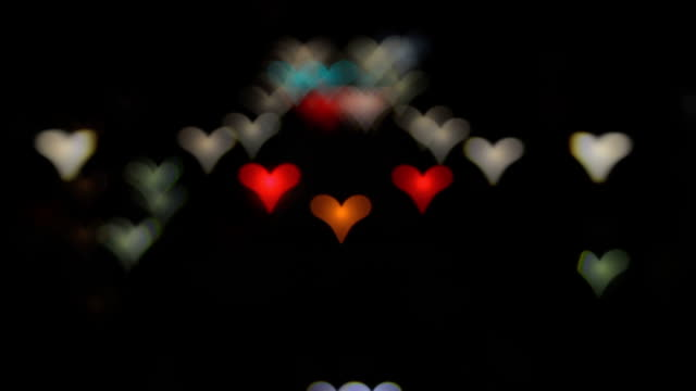 Bokeh of heart shape at Tomigaya crossing wide shot video