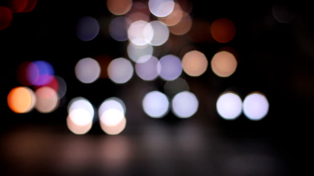 Bokeh of nine square shape at Yamate ave. wide shot high angle video