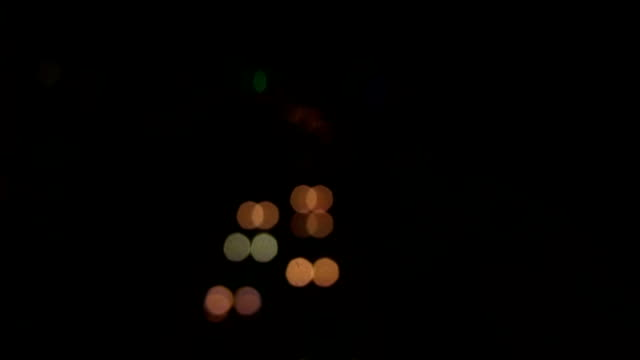 Bokeh of seven square shape at Yamate ave. wide shot time lapse video