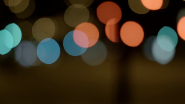 Bokeh Of Street Lights video