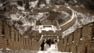 Bokeh on Top of Great Wall of China video
