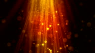 Bokeh Particle Rays Gold video