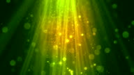 Bokeh Particle Rays Green video