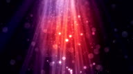 Bokeh Particle Rays Red video