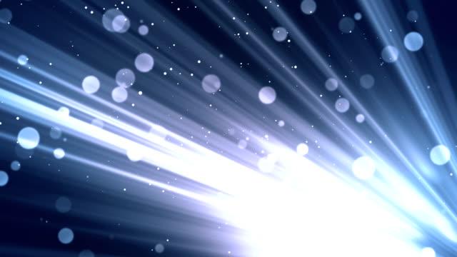 Bokeh Rays Glitters Blue video