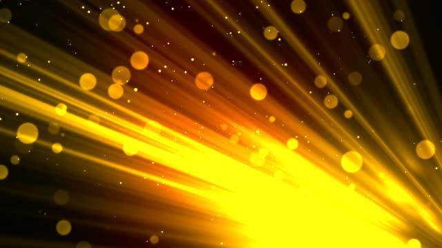 Bokeh Rays Glitters Gold video