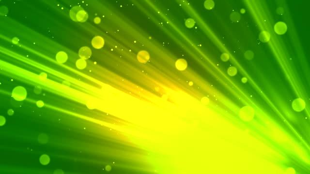 Bokeh Rays Glitters Green video