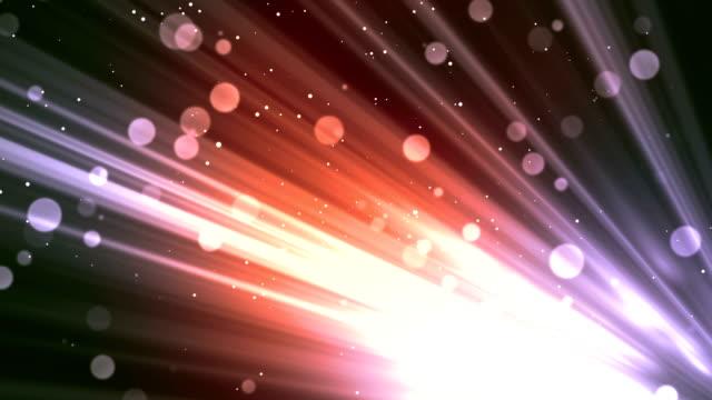 Bokeh Rays Glitters Red video