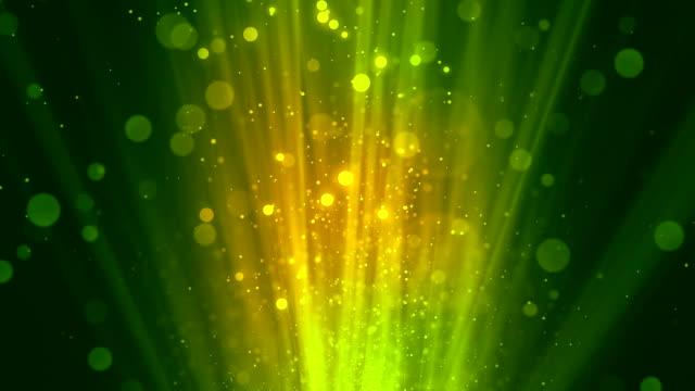 Bokeh Rays Green video