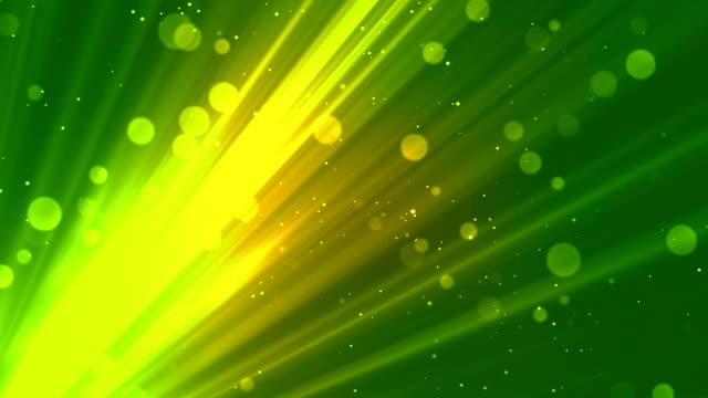 Bokeh Soft  Rays Green video