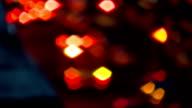 Bokeh traffic car at night video