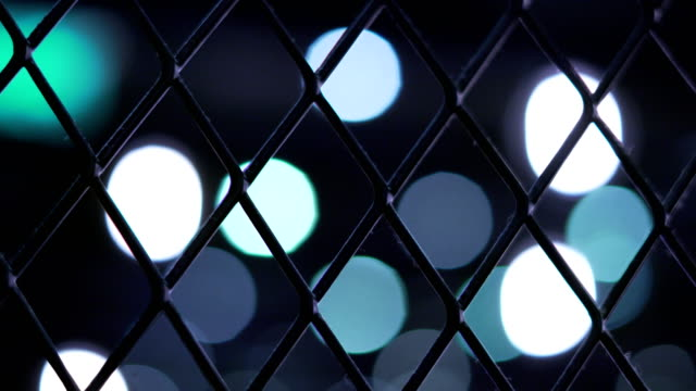 Bokeh Trapped in Cage. video