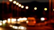Bokehs of traffic lights video
