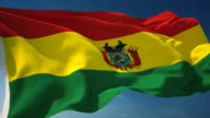 4K Bolivia Flag - Loopable video
