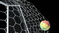 Bolivian Ball Scores in Slow Motion with Alpha Channel video