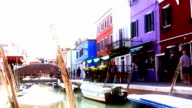 HD SUPER SLOW-MO: Bollard And Colorful Houses In Venice video
