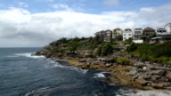 Bondi and Tamarama Beaches Coastal Path in timelapse, Sydney Australia video
