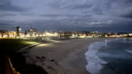 Bondi Beach at nightfall, Sydney Australia video