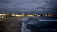 Bondi Beach at nightfall, Sydney Australia video