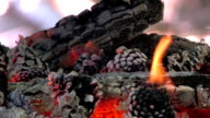 HD Bonfire flame video