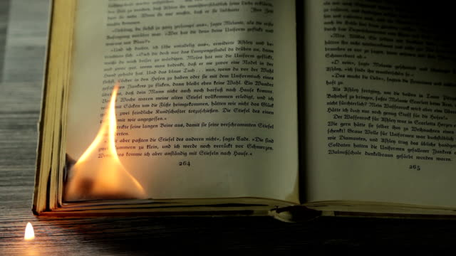 Book burning video