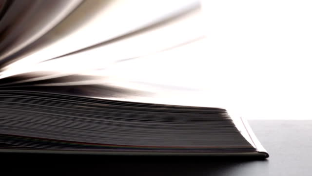 Book Flip Slow Motion. video
