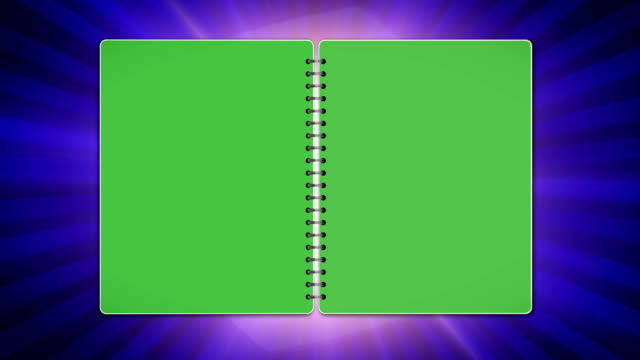 Book, Open / Close with Green Screen, Loop video