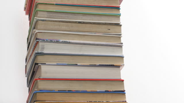 Book Piles Stop Motion (HD) video