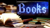 Book store counter video