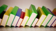 Books in a row. Loopable CG. video