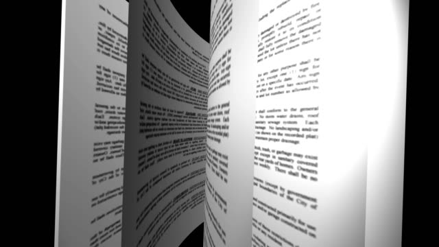 Book's page turning, education concept background, 4K Loopable animation video